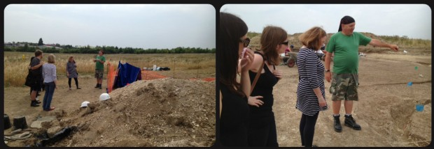 museum team tour of archaeological site