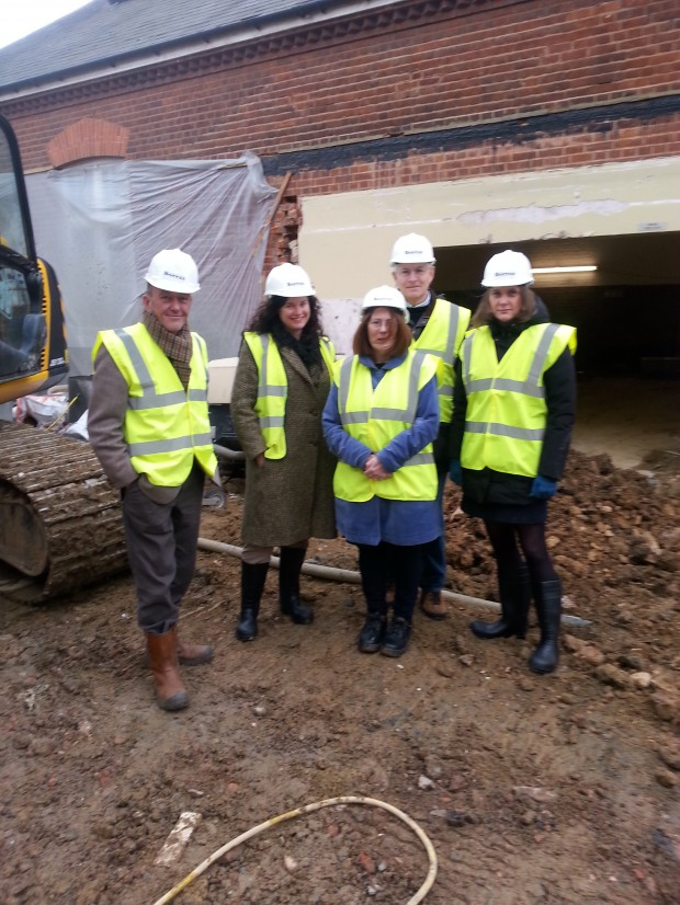 Site visit by John Robinson, Sylvia Hirons (HLF), Ros Allwood, Philip Venning (HLF Committee Member ) and Sophia Mirchandini (HLF External Assessor)