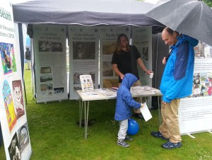 Letchworth Festival - rainy but busy!
