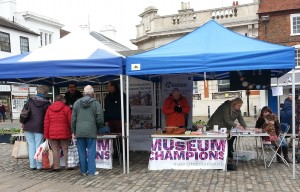 The stall in Hitchin